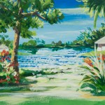 Florida Backyard View_Acrylic